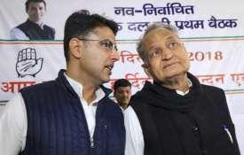 <p>sachin pilot and ashok...- India TV