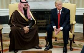 Saudi Crown Prince Mohammed bin Salman with President Donald Trump | AP File- India TV