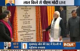 नेताजी की जयंती आज, लाल किले में पीएम मोदी ने किया संग्रहालय का उद्घाटन- India TV