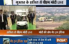 पीएम मोदी आज सेना को सौंपेंगे पूरी तरह से देश में बनी तोप K-9 वज्र- India TV
