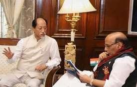 Nagaland Chief Minister Neiphiu Rio with Union Home Minister Rajnath Singh| PTI File- India TV