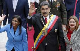 Nicolas Maduro with Vice President Delcy Rodriguez (left) | AP File Photo- India TV