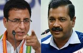 Randeep Singh Surjewala and Arvind Kejriwal   PTI File- India TV