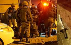Soldiers at the scene of an attempted stabbing attack near the West Bank city of Nablus- India TV