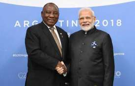 south african president cyril ramaphosa and pm...- India TV