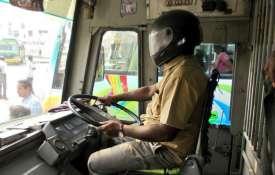 ट्रेड यूनियनों की हड़ताल का आज दूसरा दिन, हिंसा की छिटपुट घटनाएं; बंगाल में हेलमेट में बस ड्राइवर- India TV