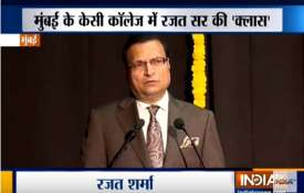 KC College, Mumbai felicitates India TV Chairman Rajat Sharma- India TV