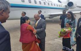 External affaires minister Sushms Swaraj inMaldives- India TV