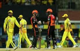 लाइव क्रिकेट स्कोर चेन्नई बनाम हैदराबाद, CSK Score vs SRH Score Live Match Chennai Super Kings vs Su- India TV