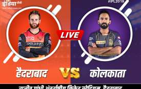 Live Cricket Streaming IPL 2019 SRH vs KKR, live match Sunrisers Hyderabad vs Kolkata Knight Riders - India TV