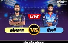 IPL 2019 Kolkata Knight Riders vs Delhi Capitals, 26th Match Eden Gardens, Kolkata- India TV