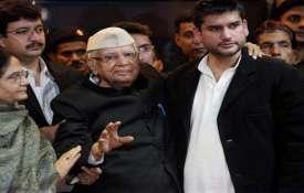 ND Tiwari and Rohit Shekhar File Photo- India TV