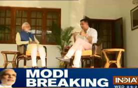 PM Narendra Modi Interview with Akshya kumar- India TV