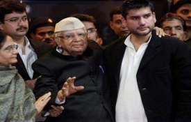 ND Tiwari and Rohit Shekhar Tiwari File Photo- India TV