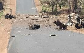 Naxals blow up police vehicle in Maharashtra's Gadchiroli   ANI- India TV