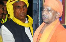 Om Prakash Rajbhar and Yogi Adityanath | Facebook- India TV