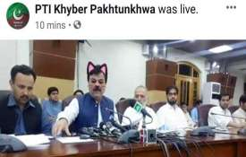 Pak minister accidently shown with cat ears,...- India TV