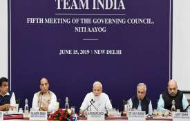 Prime Minister Narendra Modi chairs the fifth meeting of the Governing Council of NITI Aayog- India TV