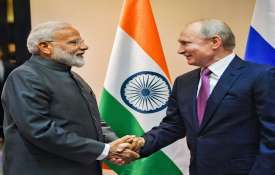 narendra modi with vladmir putin- India TV