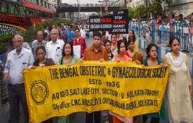 Members of Joint Doctors Forum walk in solidarity...- India TV