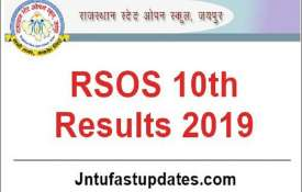 rsos 10th result 2019- India TV