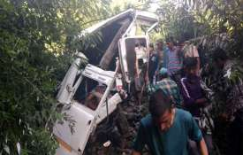 <p>Bus Accident Jammu Kashmir...- India TV