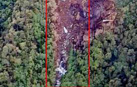 Picture of wreckage of missing an 32 found in Arunachal Pradesh- India TV