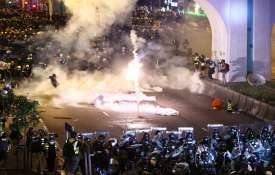 Hong Kong protesters daubed Egg at China...- India TV