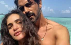 Arjun rampal and gabriella demetriades- India TV