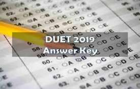 DUET 2019 ANSWER KEY- India TV