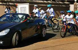 Cycle rally in S Africa- India TV