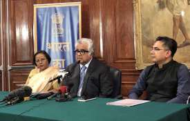 Senior advocate Harish Salve addresses a press...- India TV