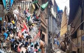 मुम्बई के डोंगरी में एक इमारत का आधा हिस्सा गिरा, 40-50 लोगों के दबे होने की आशंका- India TV