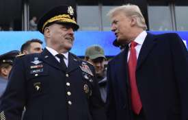 President Donald Trump, right, talks with Army Chief of Staff Gen. Mark Milley | AP File- India TV