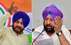 <p>navjot singh sidhu and amarinder...- India TV