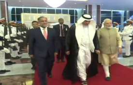 Prime Minister Narendra Modi arrives at Abu...- India TV