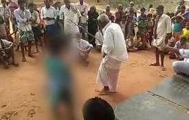 आंध्र प्रदेश में लड़के के साथ भागने पर नाबालिग लड़की की बेरहमी से पिटाई- India TV