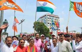 Bharatiya Janata Party workers celebrate...- India TV