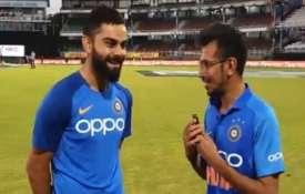 Virat Kohli and Yujvender chahal- India TV