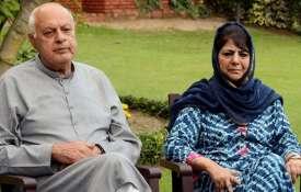 Farooq abdullah and mehbooba...- India TV