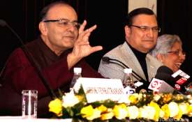 Rajat Sharma and Arun Jaitley- India TV