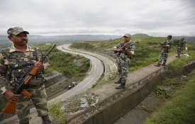 CRPF personnel stand guard on...- India TV