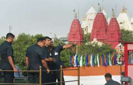 Security personnel keep vigil during a...- India TV