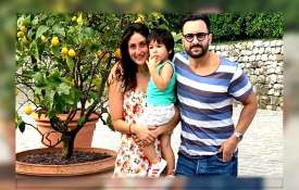 Saif Ali Khan with Kareena Kapoor and Taimur- India TV