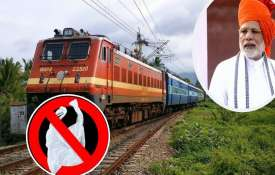 ministry of railways has directed all railway units to enforce a ban on single use plastic material - India TV