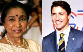 आशा भोसले और जस्टिन ट्रुडो- India TV