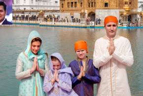 Justin Trudeau with his family visits Golden Temple | PTI Photo- Khabar IndiaTV
