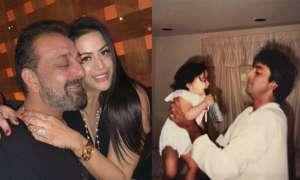 त्रिशाला ने पापा संजय दत्त संग शेयर की तस्वीर, सौतेली मां ने दिया ये रिएक्शन
