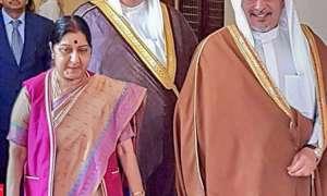 सुषमा स्वराज बहरीन के शाह हमद बिन ईसा अल खलीफा और प्रधानमंत्री से की मुलाकात