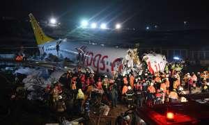 तुर्की में बड़ा विमान हादसा, रनवे से फिसल तीन टुकड़ों में बंटा विमान; 3 यात्रियों की मौत